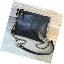 Black Leather Cross Body