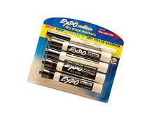 Expo Black Dry Erase Low Odor Chisel Tip Markers 4 Ct Plus