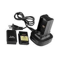Insten Black Dual Battery Charger Charging Station