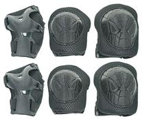 Cooplay Small Size Black Elbow Wrist Protective Knee Pads