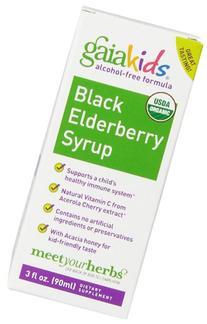 Gaia Herbs Kids Black Elderberry Syrup, 3 Ounce