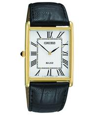 Men's Seiko Black Leather Solar Dress Watch