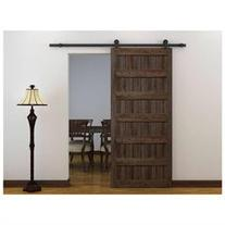 6Ft Black Modern European Style Barn Wood Steel Sliding Door