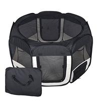 New Small Black Pet Dog Cat Tent Playpen Exercise Play Pen