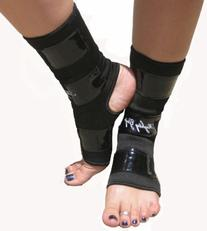 Black Mighty Grip Pole Dancing Ankle Protectors with Tack