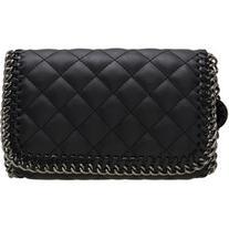 Black PU Diamond Chain Shoulder Bag