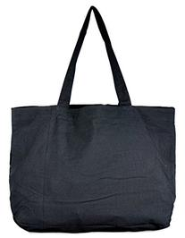 Black Sequin X Large Tote Bag 24-inch