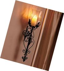 Black Metal and Glass Hurricane Sconce