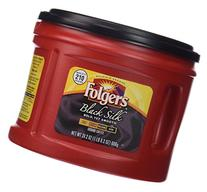 Folgers Black Silk Dark Roast Ground Coffee, 24.2 oz