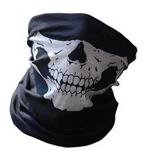 Yansanido Black Soft and Comfortable Seamless Skull Face