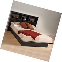 Prepac Black Sonoma Queen Bookcase Platform Bed