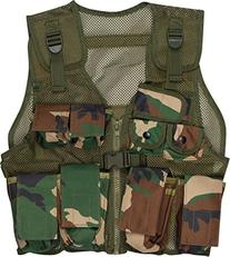Modern Warrior Junior Black Camo Tactical Vest Fits 50-125-