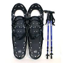 "New MTN 25"" Black All Terrain Snowshoes+Nordic pole+ Free"