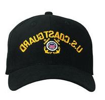 Black US Coast Guard Low Profile Cap