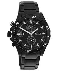 Men's Black Fossil Wakefield Chronograph Steel Watch CH2936