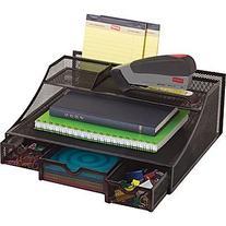 Staples Black Wire Mesh Desk Bureau
