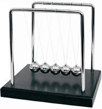 "7.5"" Black Wood Grain Newton's Cradle"