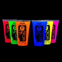 UV Glow Blacklight Face and Body Paint 1.7oz - Set of 6