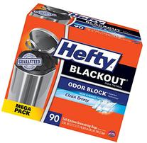 Hefty BlackOut Tall Kitchen Trash Bags, Clean Breeze, 90