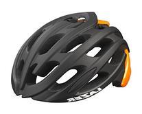 Lazer Blade Helmet: Matte Black with Flash Orange LG