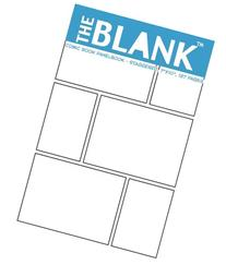 """The Blank Comic Book Panelbook - Staggered, 7""""x10"""", 127"""