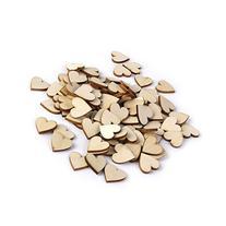OULII Blank Heart Wood Slices Discs Wedding Christmas