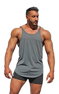 Physique Bodyware Men's Blank Y-Back Stringer Tank Top Large