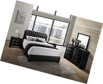 Roundhill Furniture Blemerey 110 Wood Bonded Leather Bed