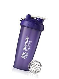BlenderBottle Classic Loop Top Shaker Bottle, Purple/Purple