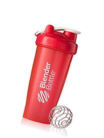 BlenderBottle Classic Loop Top Shaker Bottle, Red/Red, 28-