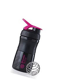BlenderBottle SportMixer Tritan Grip Shaker Bottle, Black/