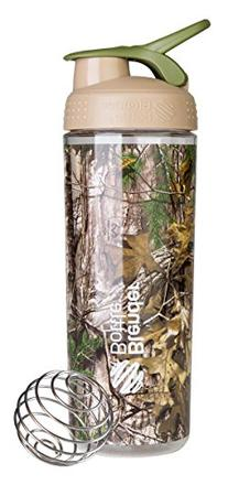 BlenderBottle SportMixer Sleek Shaker Bottle, Realtree Camo