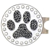 Giggle Golf Bling Paw Print Golf Ball Marker With A Standard