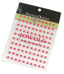 Eyelet Outlet Bling Self-Adhesive Jewels, 5mm, Pink, 100-
