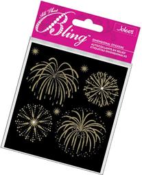 Bling Stickers-Fireworks Gold