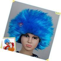 Bliss Pro's Blue Staright Children's Afro Wig Halloween