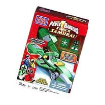 Mega Bloks Power Rangers Super Samirai Green Rocket Race Car