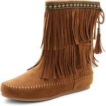 UNIONBAY Bloomy Fringe Boots