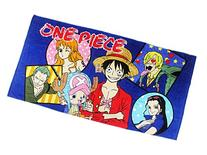 One Piece Blue Colored Beach/Bath Towel With Character