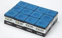 Box of 12 Blue Cubes of Pool Cue Chalk by Felson Billiard