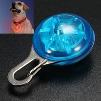 MECO Blue Dog Safety LED Light Clip for Collar Peg Cat Night