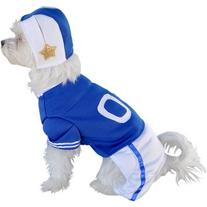 Blue Football Player Dog Costume Size: X-Small