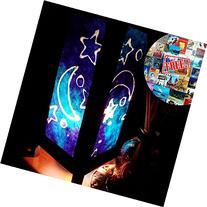 Blue Star Moon Night Table Lamp Lighting Shades Floor Desk