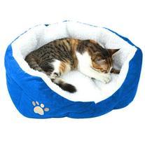 TOOGOO Blue Warm Indoor Soft Fleece Puppy Pets Dog Cat Bed