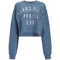 Miss Selfridge Blue West Coast Sweatshirt