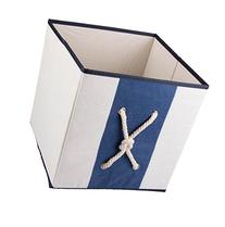 Blue and White Collapsible Storage Box and Closet Organizer