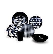 Baum Blue & White 16-pc. Dinnerware Set
