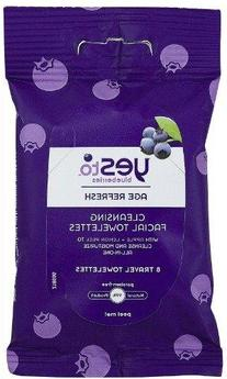 Yes To Blueberries Cleansing Facial Towelette, 8 ct, Travel