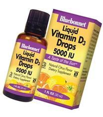 Bluebonnet Earth Sweet Liquid Vitamin D3 5000 IU, 1 Ounce