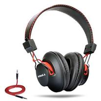 40 hr Wireless Wired Bluetooth Over Ear Headphones with Mic